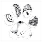 Silhouet dierlijke sleep Royalty-vrije Stock Afbeeldingen