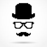 Silhouet eenvoudig symbool van Detective stock illustratie