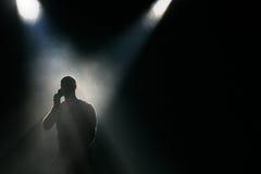 Silhouet in het stadium Royalty-vrije Stock Afbeeldingen
