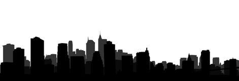 Silhouet New York Royalty-vrije Stock Foto