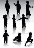 Silhouet og childs Stock Afbeelding