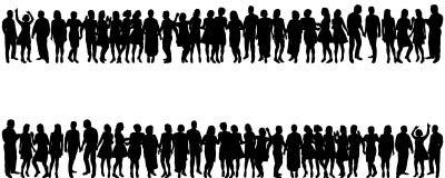 Silhouet peopleÑ ‹ Royalty-vrije Stock Foto's