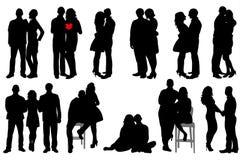 Silhouet peopleÑ ‹ Stock Afbeelding
