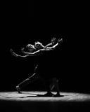 Silhouet-should've-silhouet sald, houd ik van u-moderne dans Stock Foto