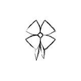 silhouet vaag satijn glanzend lint met bandholding stock illustratie