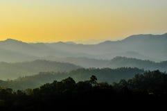 Silhouet van berg Royalty-vrije Stock Afbeelding