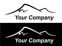 Silhouet van bergen Royalty-vrije Stock Afbeeldingen