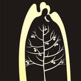 Silhouet van boom Stock Afbeeldingen