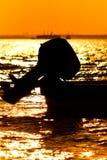 Silhouet van boot Royalty-vrije Stock Afbeeldingen