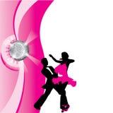Silhouet van dansend paar Royalty-vrije Stock Afbeelding
