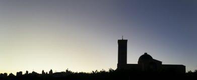 Silhouet van de Basiliek van Aparecida Royalty-vrije Stock Foto's