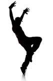 Silhouet van de Danser van Hip Hop Royalty-vrije Stock Afbeelding