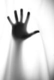 Silhouet van de hand Stock Afbeelding