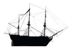 Silhouet van de HMS-Overwinning royalty-vrije illustratie