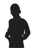 Silhouet van de jongen Royalty-vrije Stock Foto's