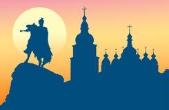 De Kathedraal en het monument van heilige Sophia aan Bogdan Khme Royalty-vrije Stock Foto's
