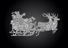 Silhouet van de Kerstman Stock Afbeelding