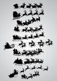 Silhouet van de Kerstman Stock Foto