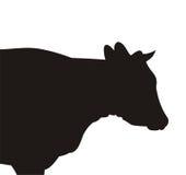 Silhouet van de koe Stock Foto