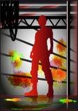 Silhouet van de mens Stock Afbeelding
