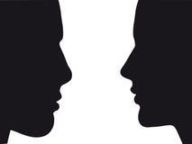 Silhouet van de mens en vrouw | Vector.eps 8 Royalty-vrije Stock Afbeeldingen
