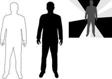 Silhouet van de persoon. Stock Foto's