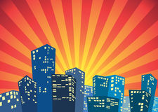 Silhouet van de stad royalty-vrije illustratie