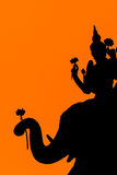Silhouet van de stijl van Thailand stock foto
