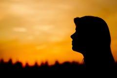 Silhouet 001 van de vrouw Royalty-vrije Stock Afbeelding