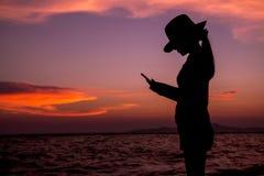 Silhouet 001 van de vrouw Royalty-vrije Stock Afbeeldingen