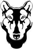 Silhouet van de wolf royalty-vrije stock fotografie