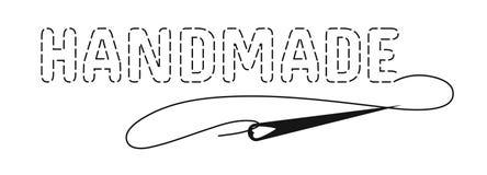 Silhouet van de woordenhand - die met onderbroken contour wordt gemaakt royalty-vrije illustratie