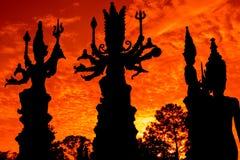 Silhouet van Deva Stock Afbeelding