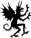 Silhouet van duivel Royalty-vrije Stock Foto's