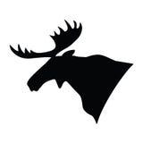 Silhouet van een Amerikaanse elanden` s hoofd Vector illustratie Royalty-vrije Stock Foto's