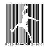 Silhouet van een basketbalspeler Royalty-vrije Stock Afbeelding
