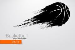 Silhouet van een basketbalspeler Vector illustratie Royalty-vrije Stock Fotografie