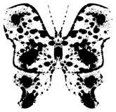 Silhouet van een batterfly door vlekken wordt geschilderd die royalty-vrije illustratie