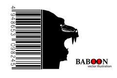Silhouet van een baviaan vector illustratie