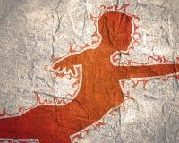 Silhouet van een dansend meisje Royalty-vrije Stock Afbeelding