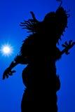 Silhouet van een draak Royalty-vrije Stock Afbeelding