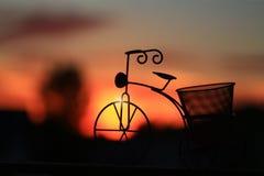 Silhouet van een fiets Royalty-vrije Stock Afbeelding