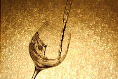 Silhouet van een glas wijn Royalty-vrije Stock Foto