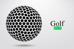 Silhouet van een golfbal Vector illustratie royalty-vrije illustratie
