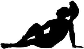 Silhouet van een Griekse held Stock Illustratie