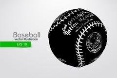 Silhouet van een honkbalbal Vector illustratie Stock Foto's