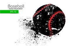 Silhouet van een honkbalbal Vector illustratie Royalty-vrije Stock Foto's