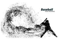 silhouet van een honkbalspeler van deeltje vector illustratie