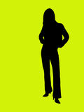 Silhouet van een jonge vrouw Royalty-vrije Stock Afbeeldingen