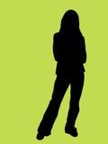 Silhouet van een jonge vrouw Royalty-vrije Stock Foto